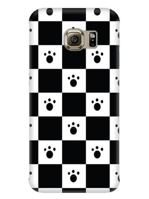 Paw Checkers Mobile Cover for Galaxy S6