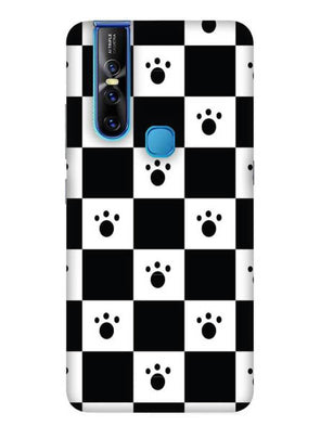 Paw Checkers Mobile Cover for Vivo 15