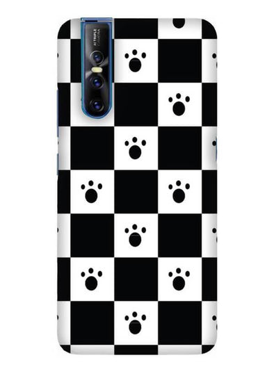 Paw Checkers Mobile Cover for Vivo 15 Pro