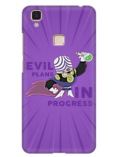 Evil Plan Mojojojo Mobile Cover for Vivo V3 Max