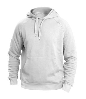 Solid white Hoodies