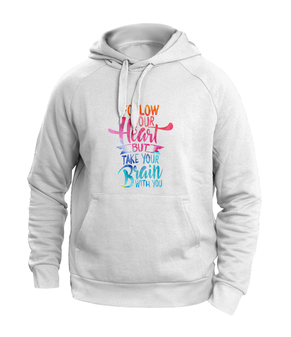 follow your heart grey hoodies