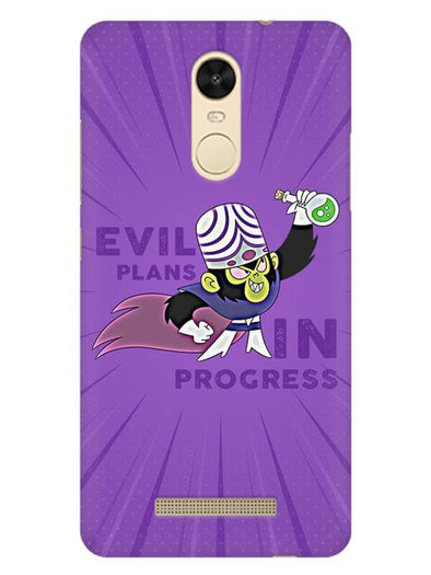 Evil Plan Mojojojo Mobile Cover for Xiaomi Redmi Note 3