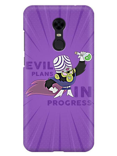 Evil Plan Mojojojo Mobile Cover for Xiaomi Redmi Note 5