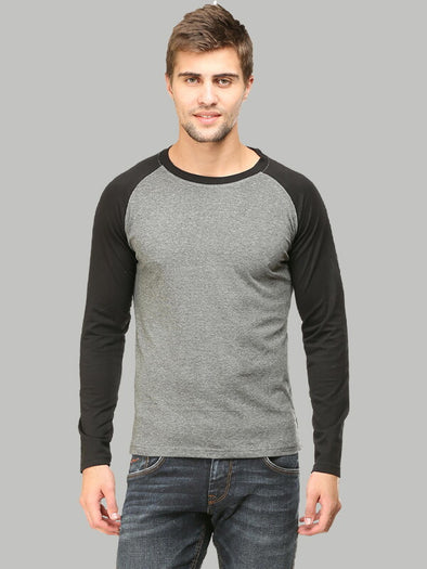 Plain Grey Raglan T-Shirt