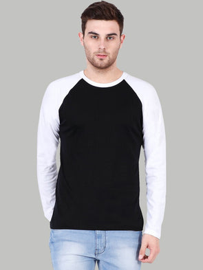 Plain Black Raglan T-Shirt