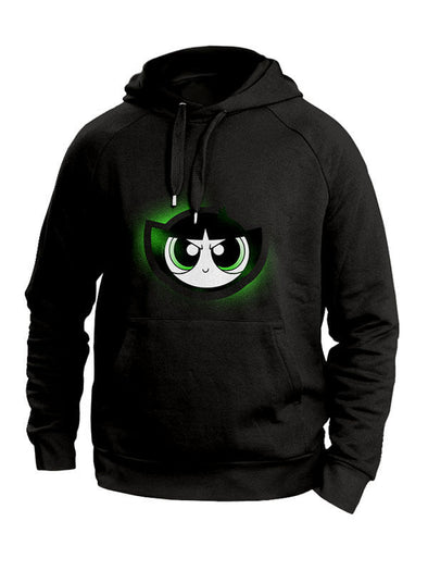 Powerpuff Girls Black Hoodies: Buttercup