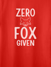 Zero Fox Given Red T-Shirts