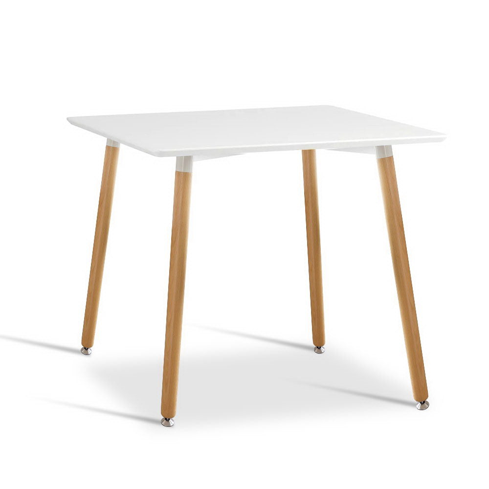 Artiss Dining Table 4 Seater Square Replica DSW Cafe Kitchen White 80cm