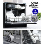 Devanti Benchtop Dishwasher Counter Bench Top Freestanding Dish Washer 8 Place
