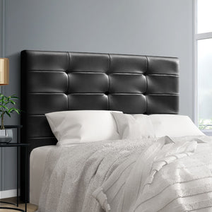 Artiss BENO Double Size Bed Head Headboard Bedhead Leather Base Frame