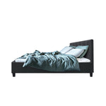 Artiss SOHO Double Size Bed Frame Tufted Headboard Fabric Charcoal