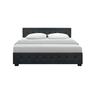 Artiss Gas Lift Queen Bed Frame -Charcoal