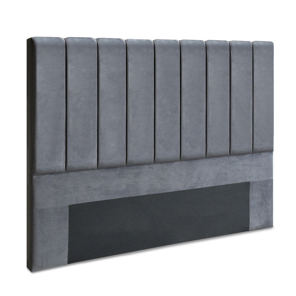 Artiss King Size Fabric Bed Headboard - Grey