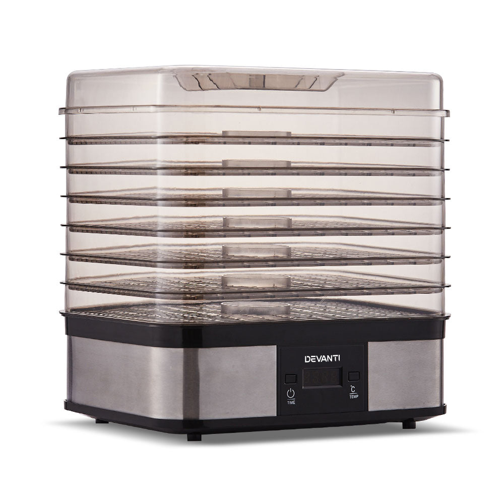 Devanti Food Dehydrator with 7 Trays - Silver