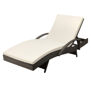 Gardeon Outdoor Sun Lounge - Grey