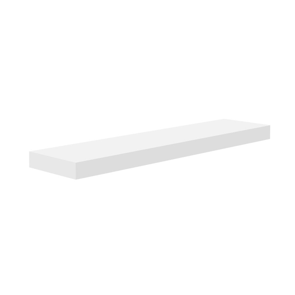 Floating Wall Shelf and Bookshelf Mount 60cm White