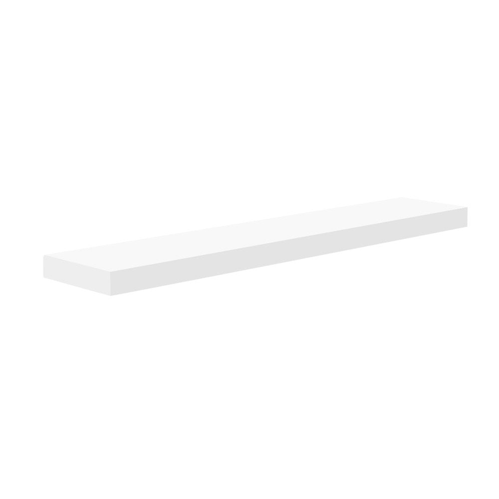 Floating Wall Shelf or Bookshelf Set 80cm White