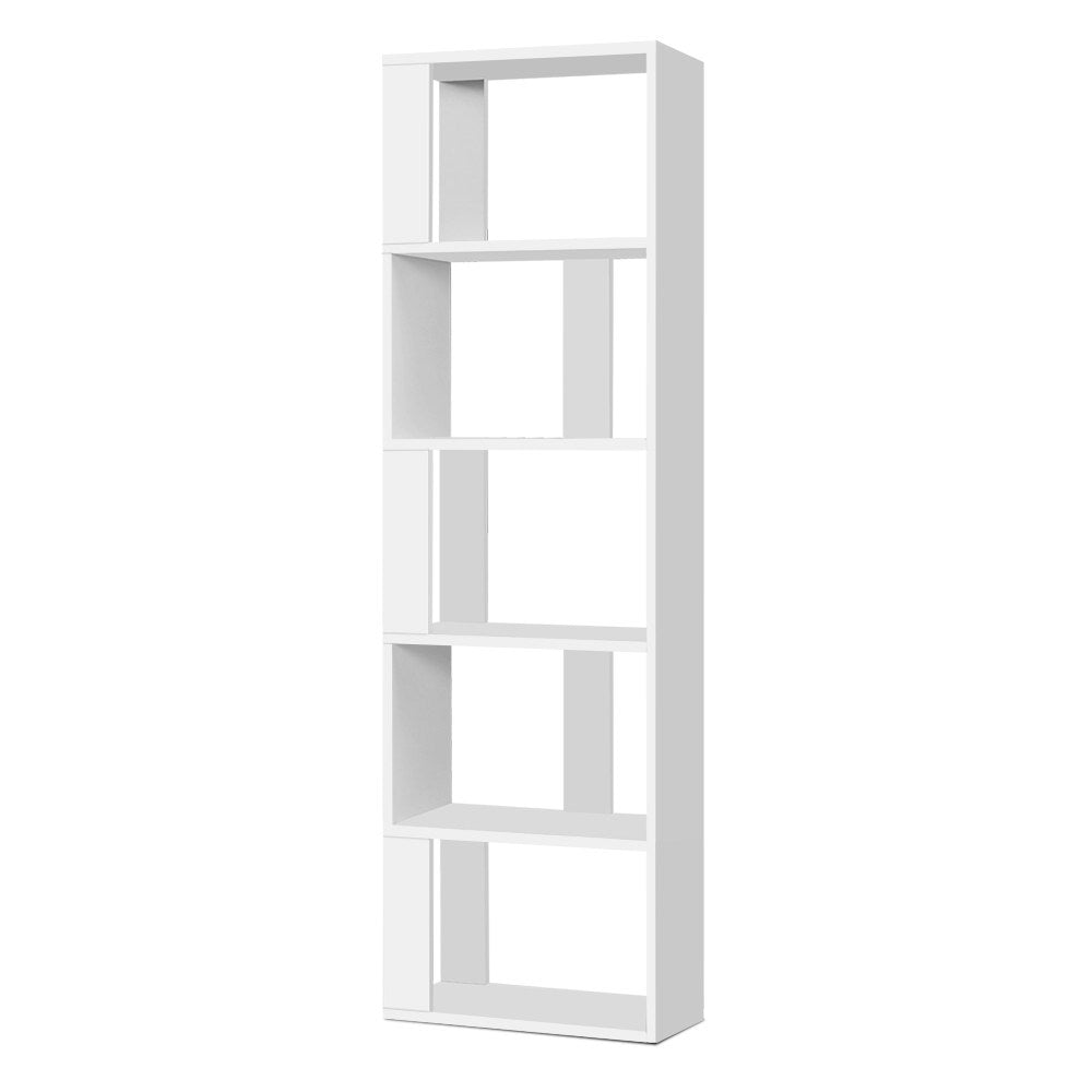 Artiss Display Shelf 5 Tier Storage Bookshelf Bookcase Ladder Stand Rack