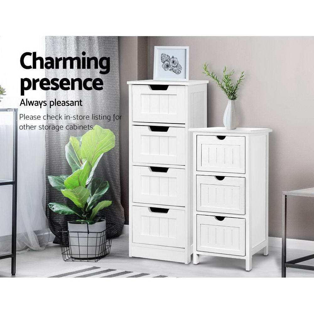 Storage Cabinet Chest of Drawers Dresser Bedside Table Bathroom Stand Furniture