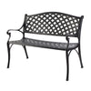 Gardeon Garden Bench Outdoor Seat Chair Cast Aluminium Park Black
