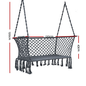 Gardeon Camping Hammock Chair Patio 2 Person Swing Hammocks Double Portable Rope
