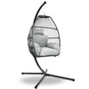Gardeon Outdoor Furniture Egg Hammock Hanging Swing Chair Stand Pod Wicker Grey