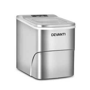 Devanti Portable Ice Cube Maker - Silver