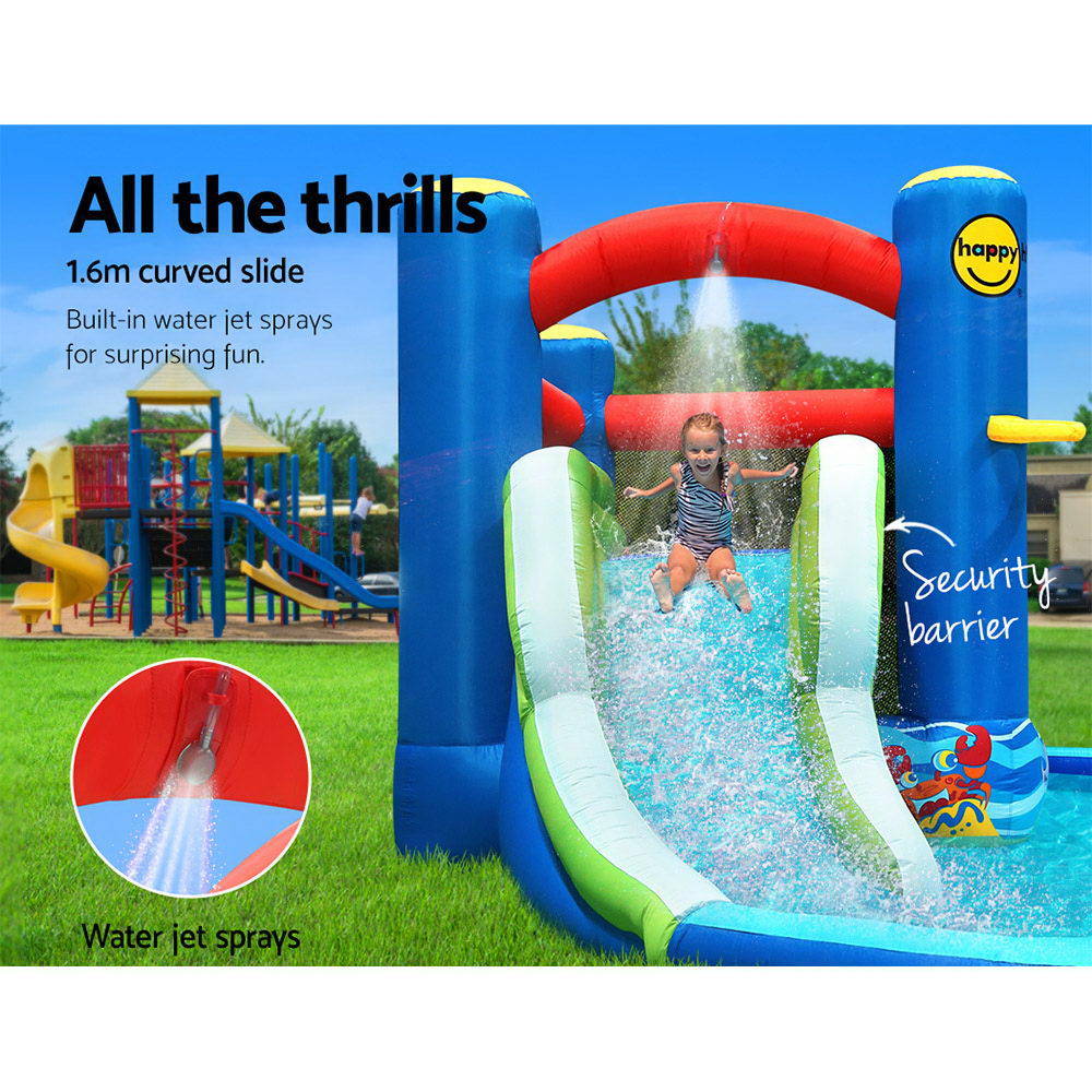 Happy Hop Inflatable Water Jumping Castle Bouncer Kid Toy Windsor Slide Splash
