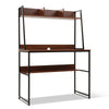 Artiss Office Computer Desk Study Table Workstation Bookshelf Storage Walnut