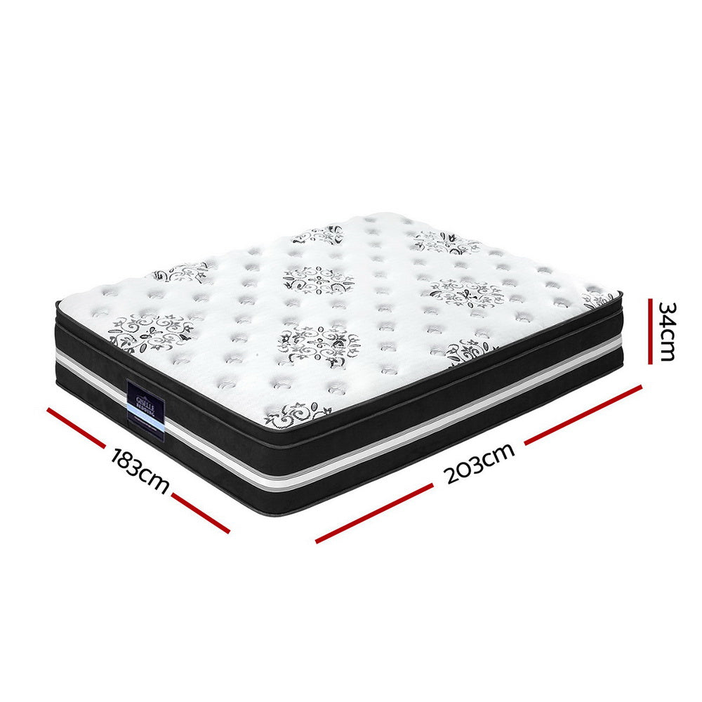 Giselle Bedding King Size Cool Gel Memory Foam Spring Mattress