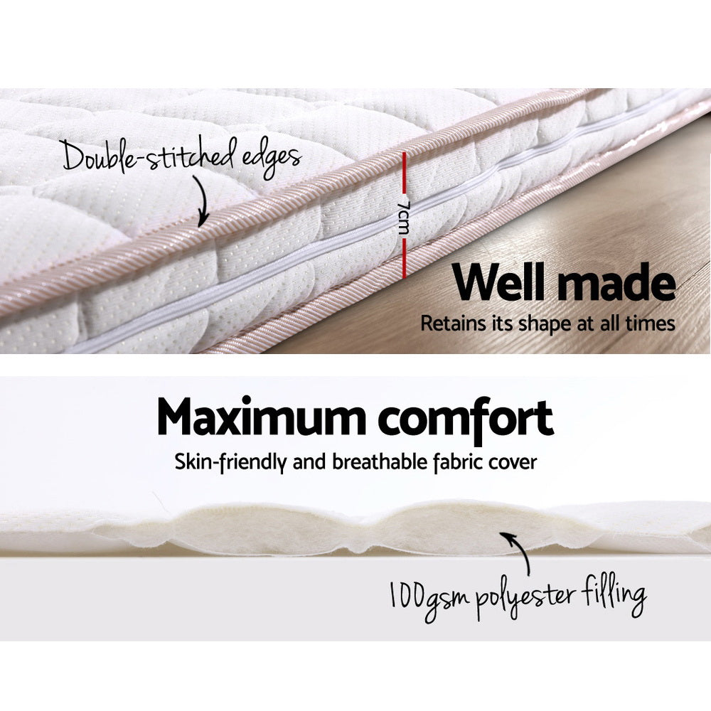 Giselle Bedding Memory Foam Mattress Topper Bed Underlay Cover Queen 7cm