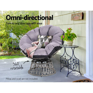 Gardeon Papasan Chair - Grey