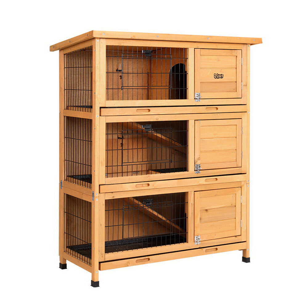 i.Pet Rabbit Hutch Hutches Large 91.5cm x 46cm x 116.5cm