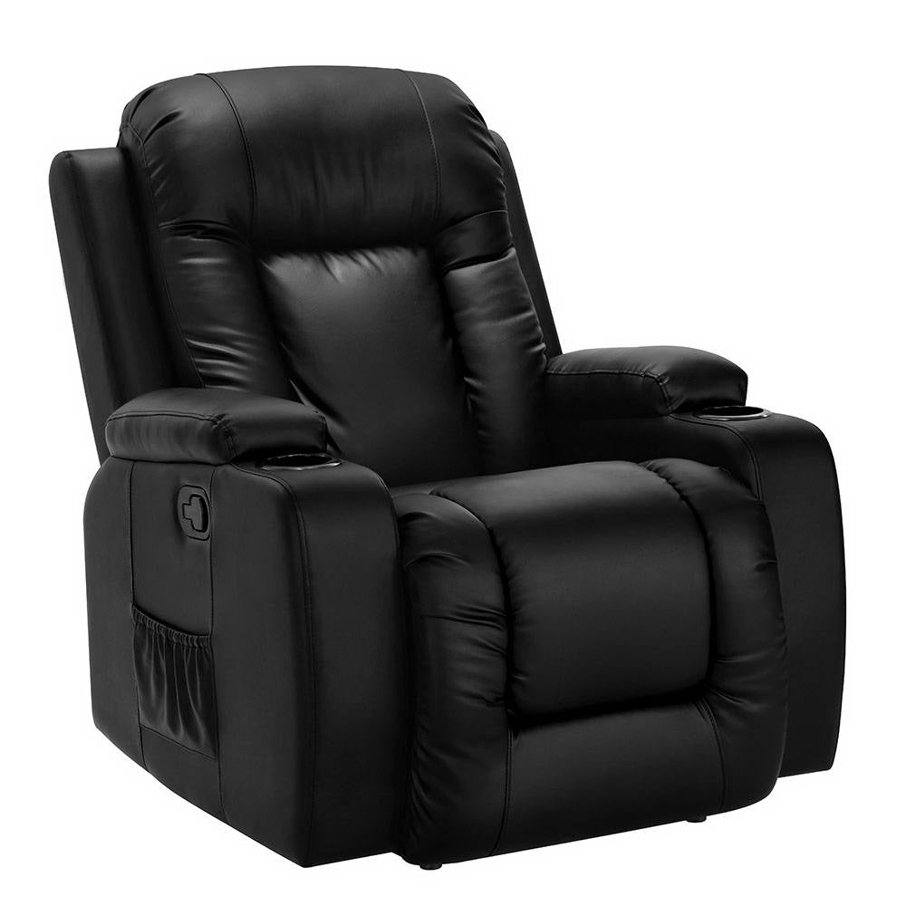 Artiss Electric Massage Chair Recliner Luxury Lounge Sofa Armchair Heat Leather
