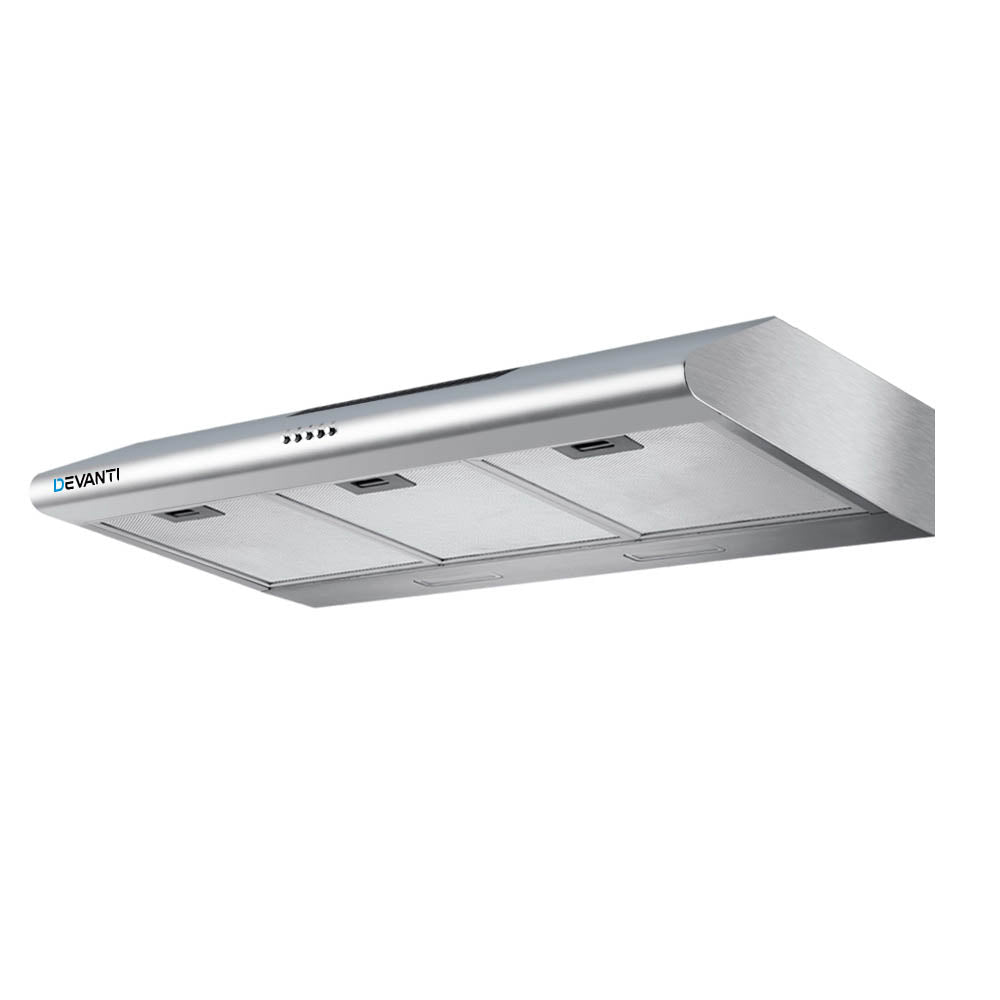 DEVANTI Fixed Range Hood Rangehood Stainless Steel Kitchen Canopy 90cm 900mm