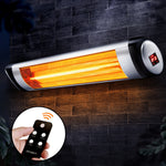 Devanti Electric Infrared Patio Heater Radiant Strip Indoor Outdoor Heaters Remote Control 1500W