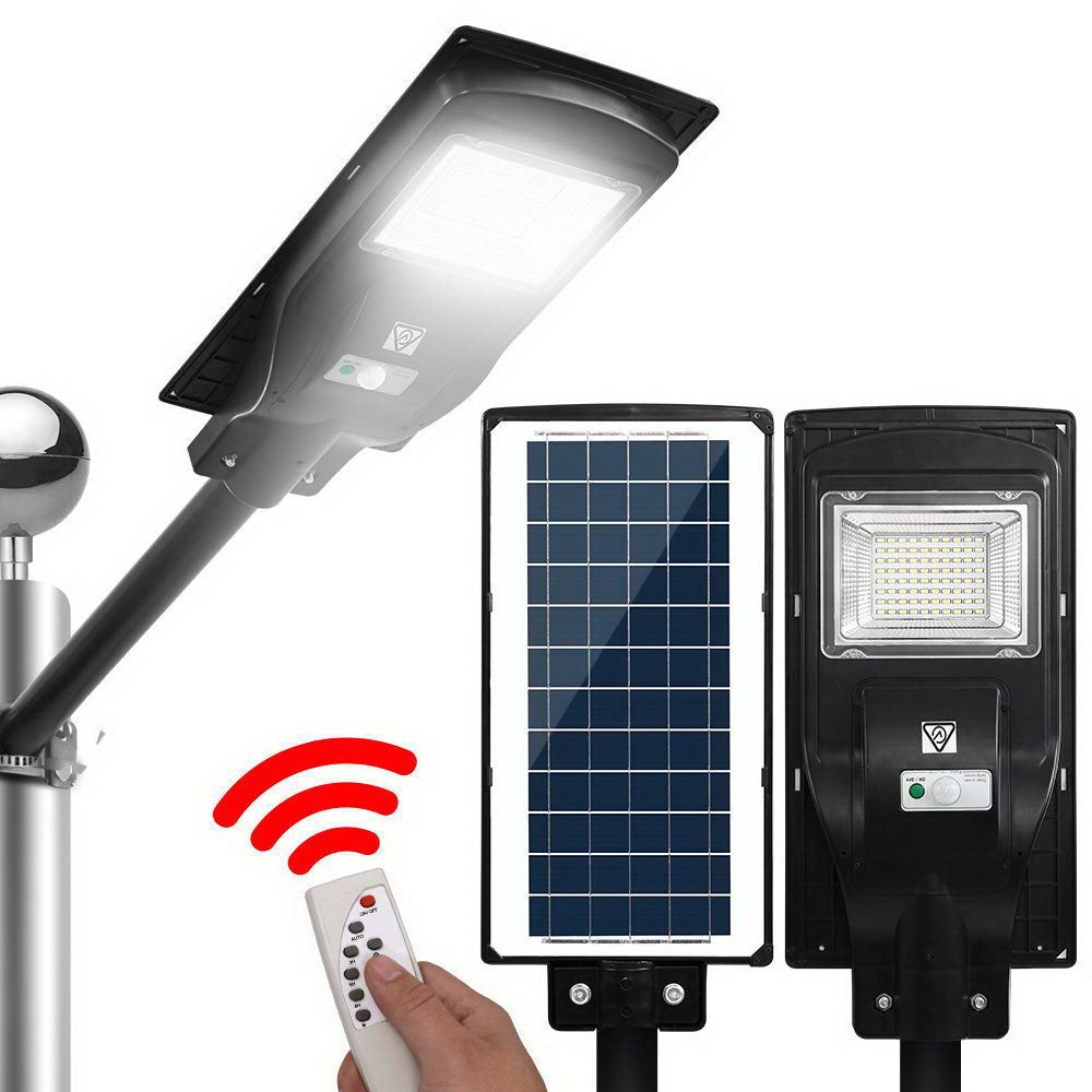 LED Solar Street Flood Light Motion Sensor Remote Outdoor Garden Lamp Lights 90W