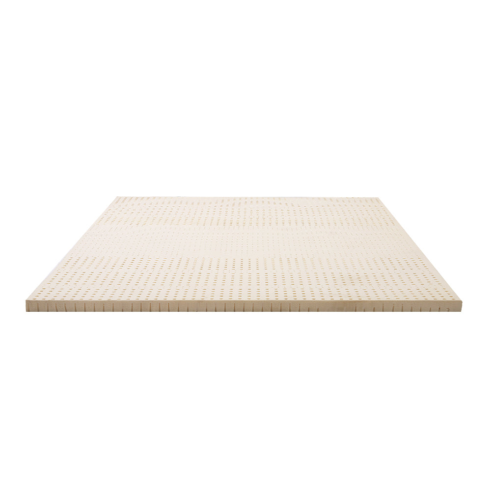 Giselle Bedding 7 Zone Latex Mattress Topper Underlay 7.5cm Queen Mat Pad Cover