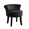 Artiss Velvet Vanity Stool Backrest Stools Dressing Table Chair Makeup Bedroom Black