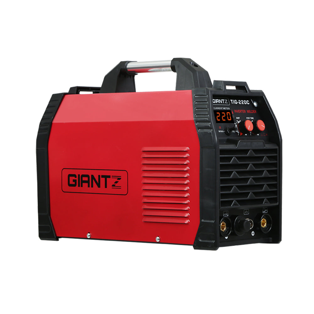 Giantz Inverter Welder TIG Portable MMA ARC Stick DC Gas Welding Machine 220Amp