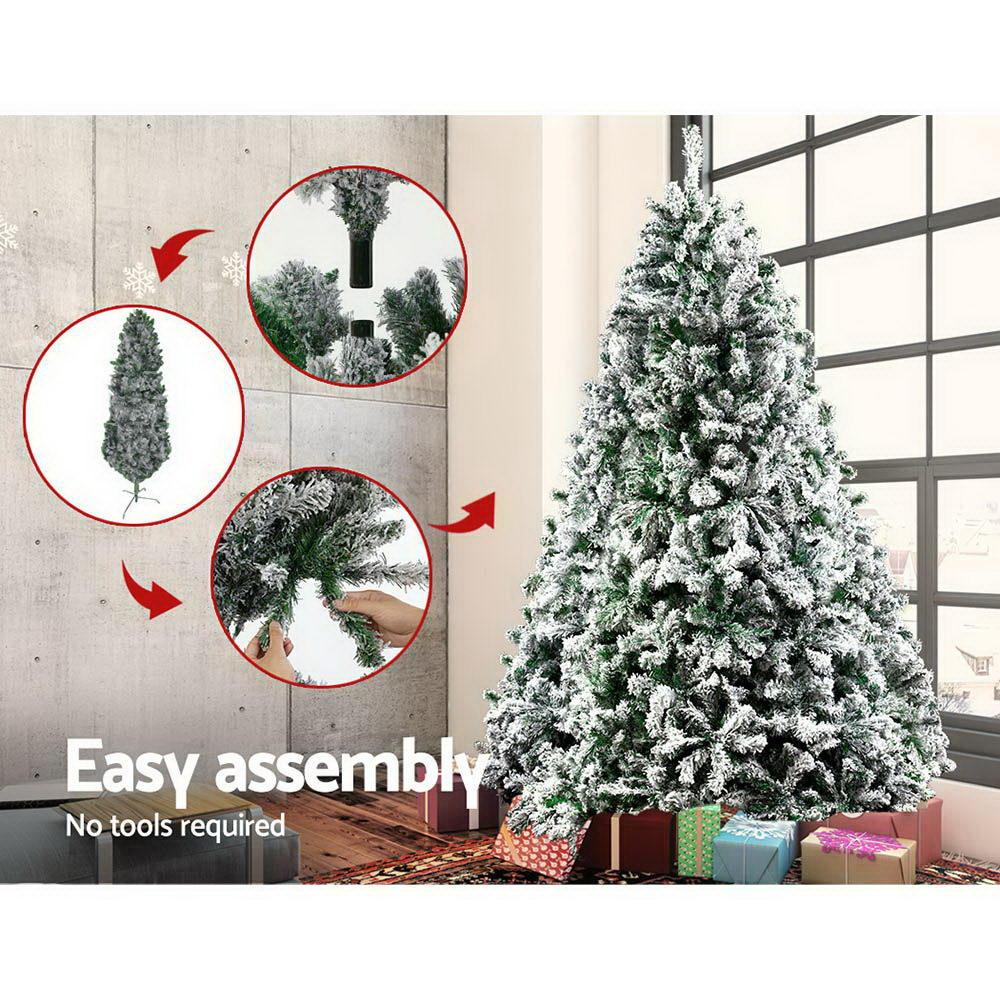 Jingle Jollys Christmas Tree 2.1M 7FT Xmas Decorations Snow Home Decor 1106 Tips