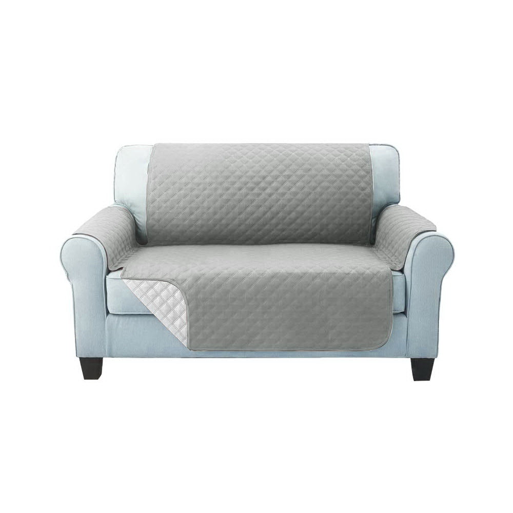 Artiss Sofa Cover Quilted Couch Covers Protector Slipcovers 2 Seater Grey