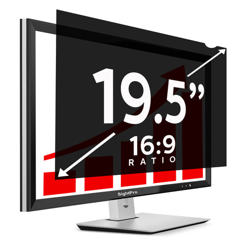 "SightPro Black 19.5"" 16:9 Privacy Screen"