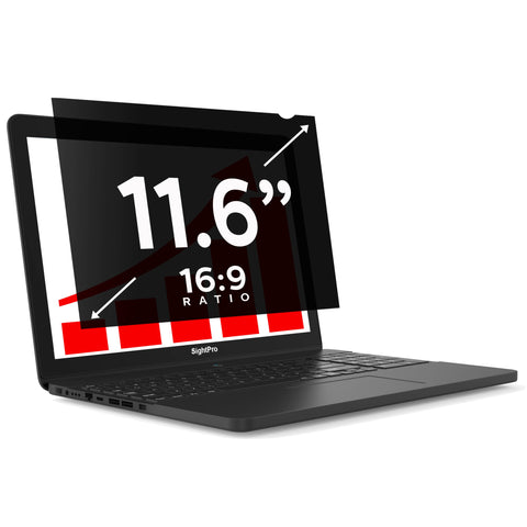 "SightPro Black 11.6"" 16:9 Privacy Screen"