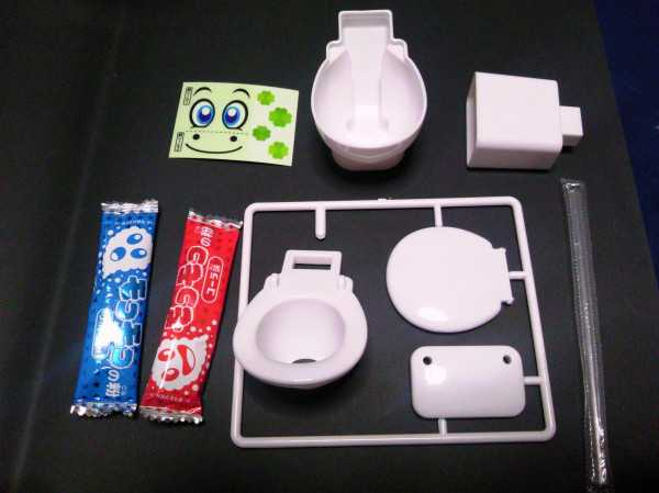 japanese candy toilet contents