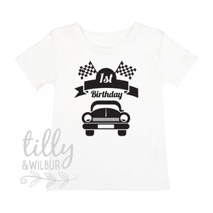 1st Birthday Racing Car T-Shirt