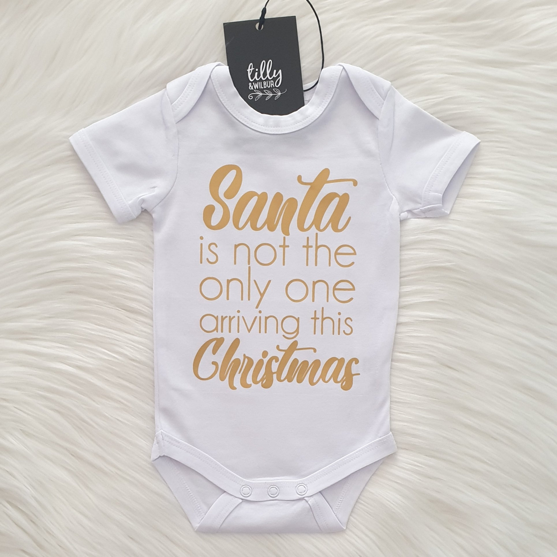 Santa Is Not The Only One Arriving This Christmas Baby Bodysuit