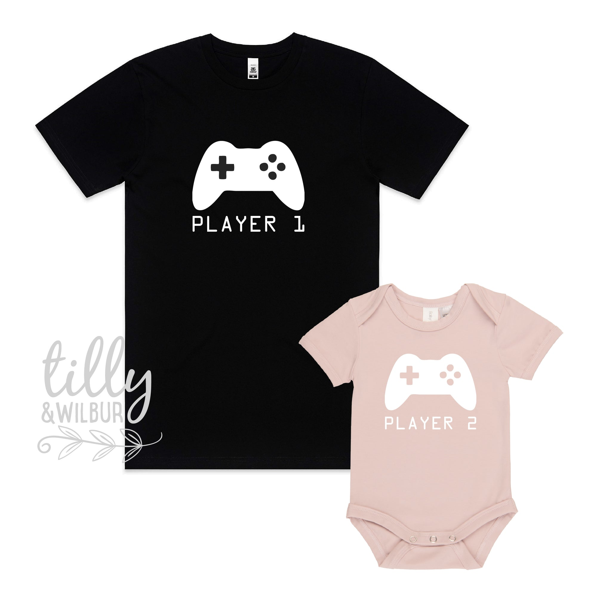 Player 1 Player 2 Daddy Daughter Matching Set