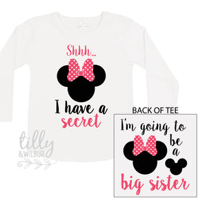 Shhh I Have A Secret, I'm Going To Be A Big Sister Long Sleeve Tee